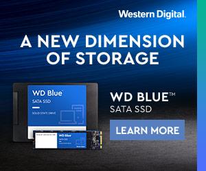 Banner: WD Blue SATA SSD, 300x250